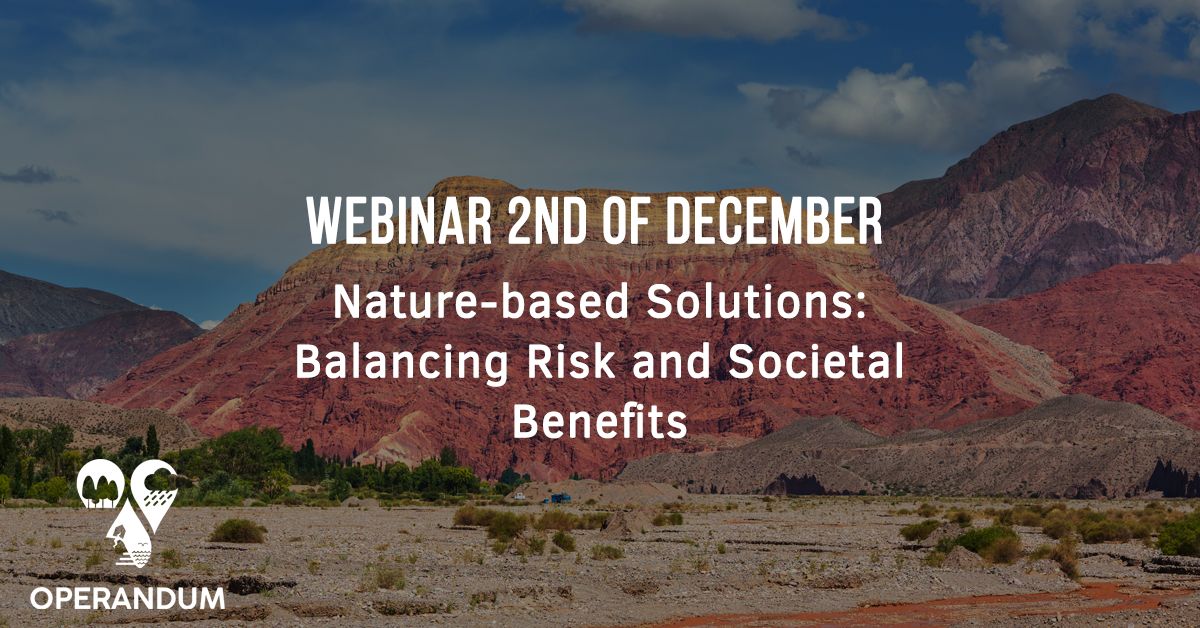 Webinar Nature-based Solutions: Balancing Risk and Societal Benefits